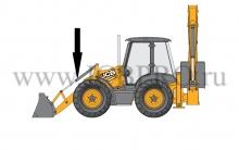 Шток опрокидывания переднего ковша JCB 590/31200, 590/40256