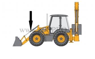 Шток опрокидывания переднего ковша JCB 590/31200