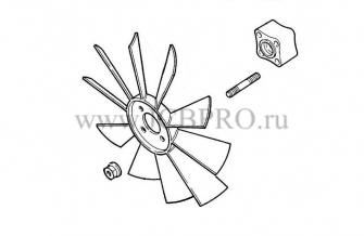 Вентилятор охлаждения JCB 262/36800