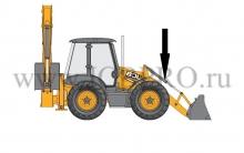 Шток разворота переднего ковша JCB 590/40526
