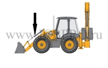 Гидроцилиндр опрокидывания переднего ковша JCB 556/60360, 556/60421, 556/60422