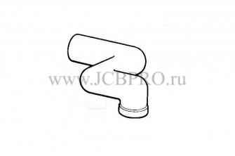 Патрубок радиатора верхний JCB 834/00181
