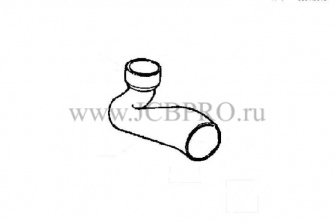 Патрубок радиатора нижний JCB 834/00450