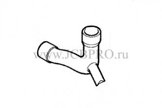 Патрубок радиатора нижний АВ JCB 834/00685