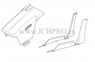 Уголок капота JCB 332/P5300, 332/C4065